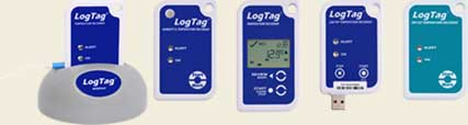 The range of LogTag temperature loggers