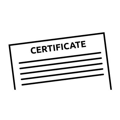 NATA certificate
