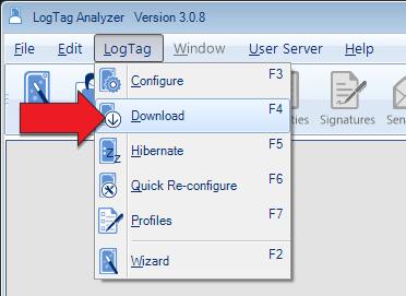 LogTag Download Menu