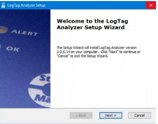 Welcome to the LogTag Analyzer Setup Wizard