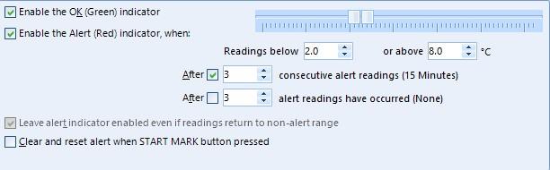LogTag TRIX or TREX Temperature Alarm Settings